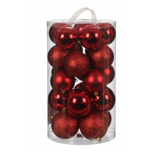 """Ялинкові кульки""""House of Seasons"""" комплект 23 шт, колір червоний"""