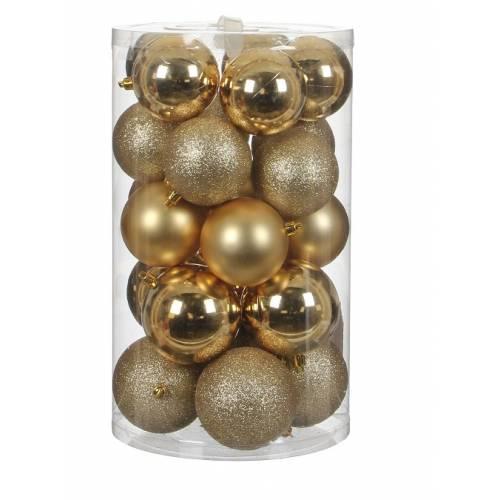 """Ялинкові кульки""""House of Seasons"""" комплект 23 шт, колір золотий"""