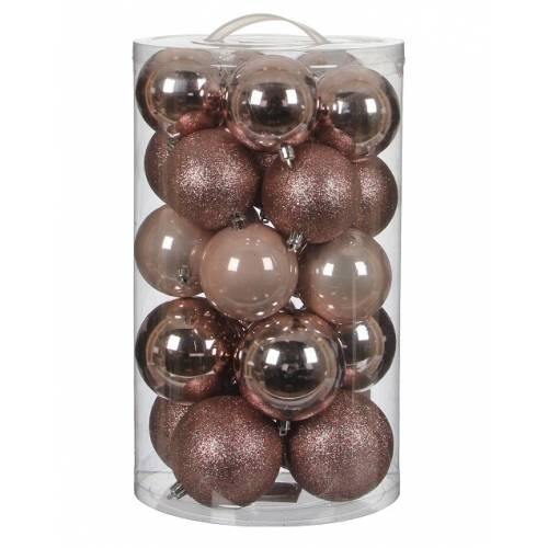 """Ялинкові кульки""""House of Seasons"""" комплект 23 шт, колір рожевий"""