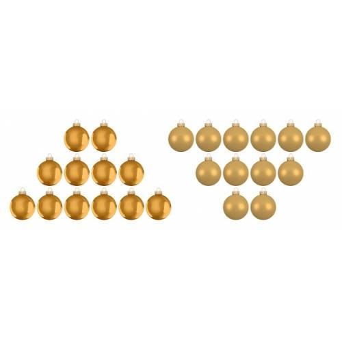 """Ялинкові кульки 24 шт, """"House of Seasons"""" комплект, колір золотий"""