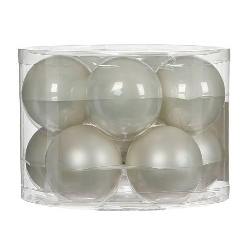 """Ялинкові кульки """"House of Seasons"""" комплект 10 шт, колір білий"""