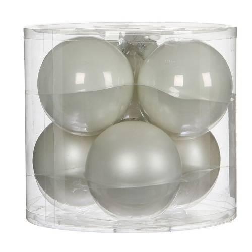 """Ялинкові кульки """"House of Seasons"""" комплект 6 шт, колір білий"""