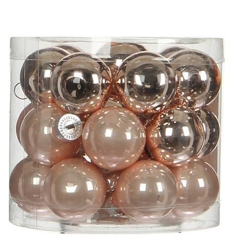 """Ялинкові кульки """"House of Seasons"""" комплект 24 шт, колір рожевий"""