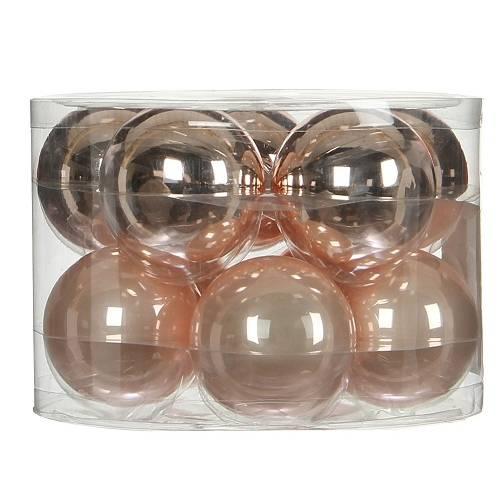 """Ялинкові кульки """"House of Seasons"""" комплект 10 шт, колір рожевий"""