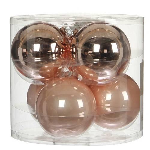 """Ялинкові кульки """"House of Seasons"""" комплект 6 шт, колір рожевий"""