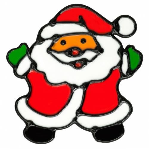 """Наклейка новорічна для вікон, діам. 10 см в ас-ті """"House of Seasons"""" Санта"""