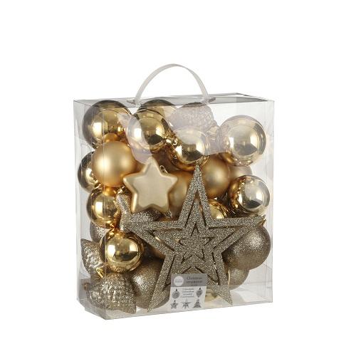 """Ялинкові пластикові кульки 40 шт, """"House of Seasons"""" комплект, золоті"""