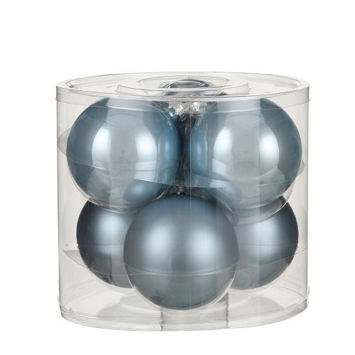 """Ялинкові кульки """"House of Seasons"""" комплект 6 шт, колір синій"""