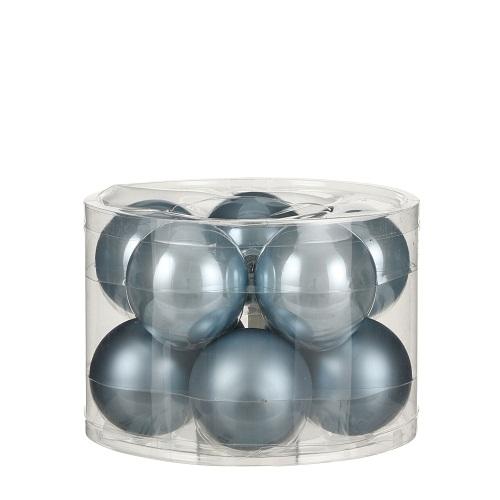 """Ялинкові кульки """"House of Seasons"""" комплект 10 шт, колір синій"""