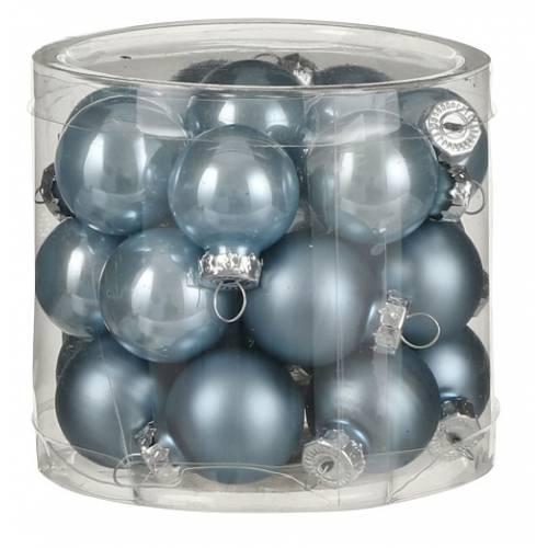 """Ялинкові кульки """"House of Seasons"""" комплект 24 шт, колір синій"""