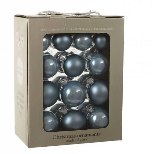 """Ялинкові кульки 26 шт., """"House of Seasons"""" комплект, колір синій"""
