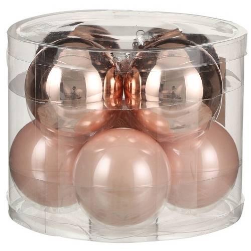 """Ялинкові кульки """"House of Seasons"""" комплект 8 шт, колір рожевий"""