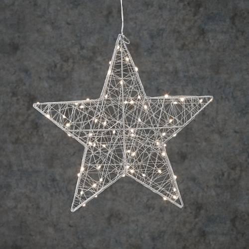 """Зірка декоративна срібна, діам. 38 см, 60 led, """"Luca Lighting"""""""