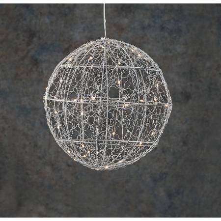 """Шар декоративный серебряный, 25 см, 30 led """"Luca Lighting"""""""