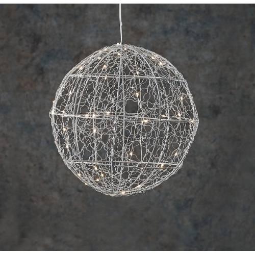 """Куля декоративна срібна, 25 см, 30 led """"Luca Lighting"""""""