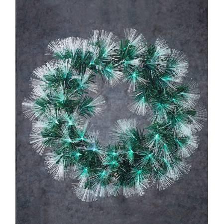 """Вінок ø 50 см штучний з оптичного волокна з мульт. лам Highland, зелений, """"Luca"""""""