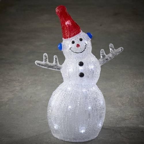 """Фігура світлодіодна """"Сніговик 40.5 см"""", акрилова, 30 led """"Luca Lighting"""""""