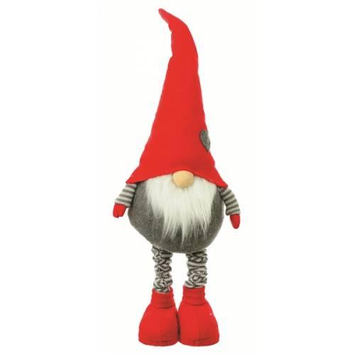 Фігурка новорічна, 75 см, Лепрікон, текстильний, колір червоний