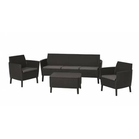 Набір меблів, Salemo 3 seater set, графіт - прохолодний сірий
