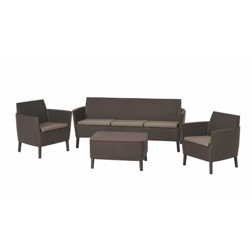 Набір меблів, Salemo 3 seater set, коричневий