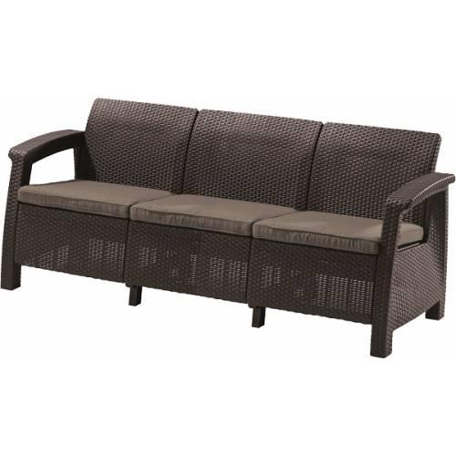 Софа, Corfu love seat max, коричневий
