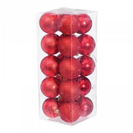 Набір кульок з візерунком, 20 шт. 6 см. червоний