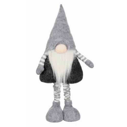 Фігурка новорічна, 75 см, Леприкон, текстильний, колір сірий, білий