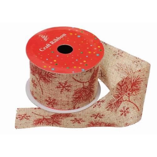 """Стрічка декоративна з візерунком """"Квіти"""" 6,5 см, текстиль"""