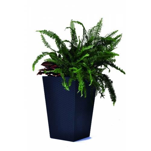 Горщик для рослин Medium Rattan Planter сірий