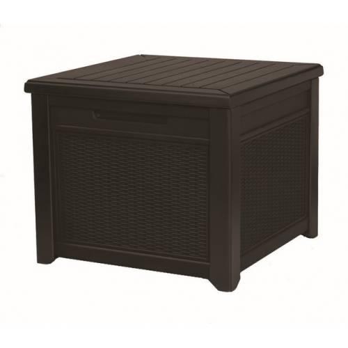 Стіл-скриня CUBE RATTAN 208 л, коричневий