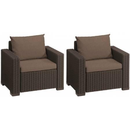 Комплект кресел, 2 шт, Сalifornia chair (x2), тепло-серый