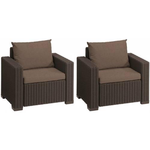 Комплект крісел, 2 шт, Сalifornia chair (x2), тепло-сірий
