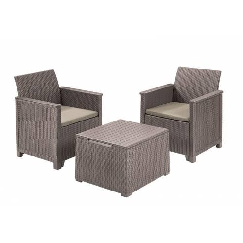 Набір меблів Emma balcony set, стіл-скриня, бежевий