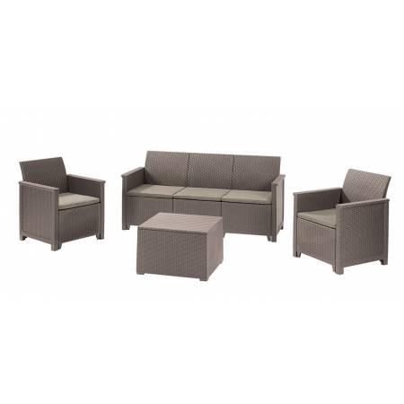 Набір меблів Emma 3 seater set, стіл-скриня, бежевий