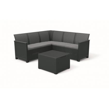 Набір меблів Emma 5 seater Corner, сірий
