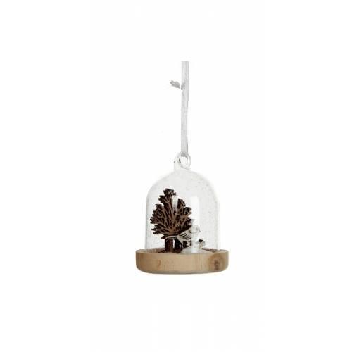 Прикраса декоративна Пташка в снігу в ассорт. 8 см, House of Seasons, Снігур