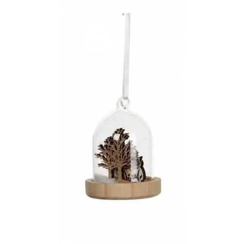 Прикраса декоративна Пташка в снігу в ассорт. 8 см, House of Seasons