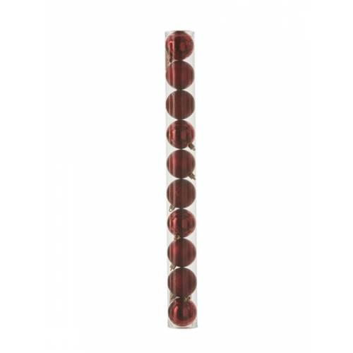 """Ялинкові пластикові кульки 10 шт, 6 см, """"House of Seasons"""", колір червоний"""