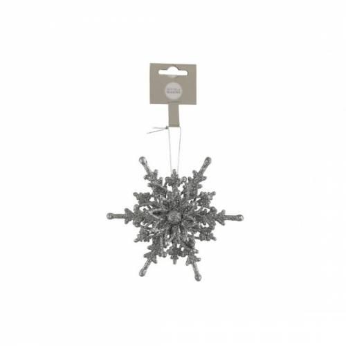 """Прикраса декоративна """"Сніжинка"""", срібна, 4,5*12,5 см, """"House of Seasons"""""""