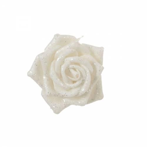 Прикраса декоративна кліпса, Троянда біла 6*8 см, House of Seasons