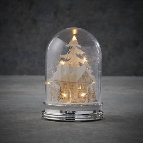 """Прикраса декоративна настільна, 14 см """"Зимова сцена, будинок"""", """"Luca Lighting"""""""