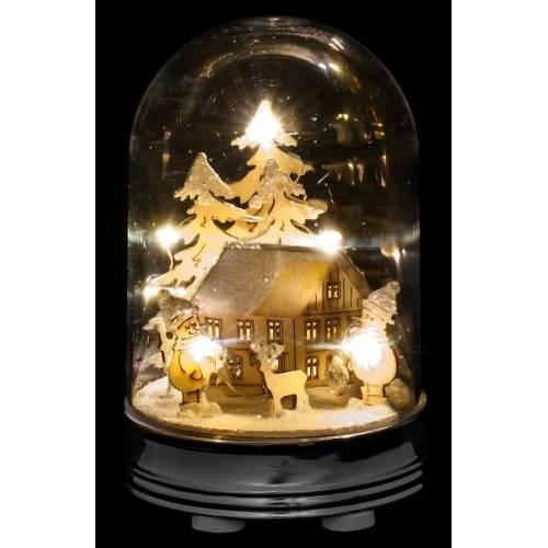 """Прикраса декоративна настільна, 9 см """"Зимова сцена, будинок"""", """"Luca Lighting"""""""
