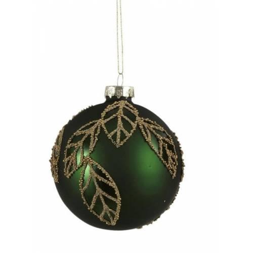 """Ялинкова скляна кулька, Ø 8 см., """"House of Seasons"""", колір зелений"""