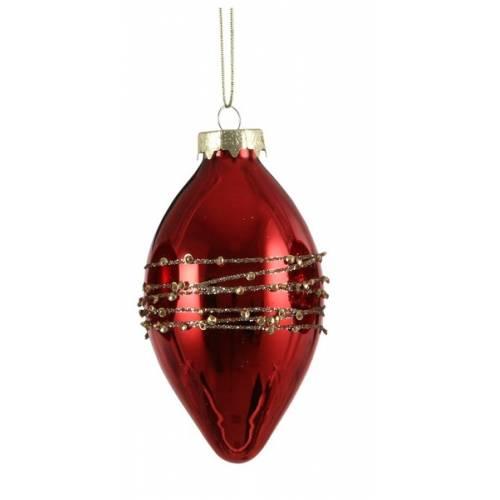 """Ялинкова скляна кулька, Ø 8 см., """"House of Seasons"""", колір червоний"""