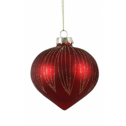 """Ялинкова скляна кулька, Ø 8 см., """"House of Seasons"""", колір червоний, мат."""