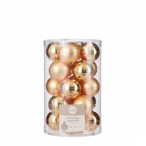 """Ялинкові скляні кульки 20 шт, 4 см, """"House of Seasons"""", колір золотий"""