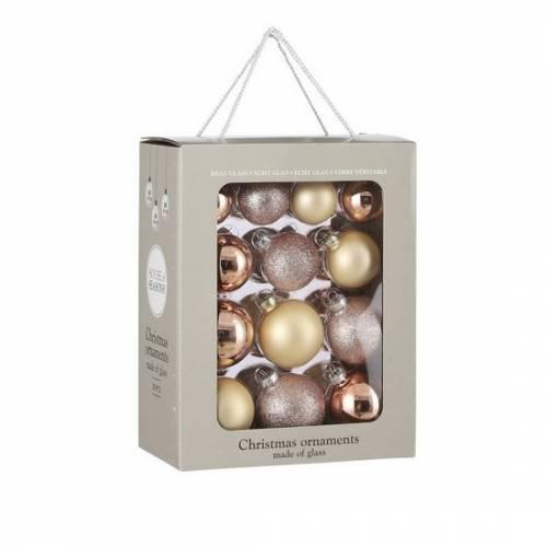 """Ялинкові кульки 26 шт, Ø 7/6/ 5 см, """"House of Seasons"""" комплект, колір рожевий"""