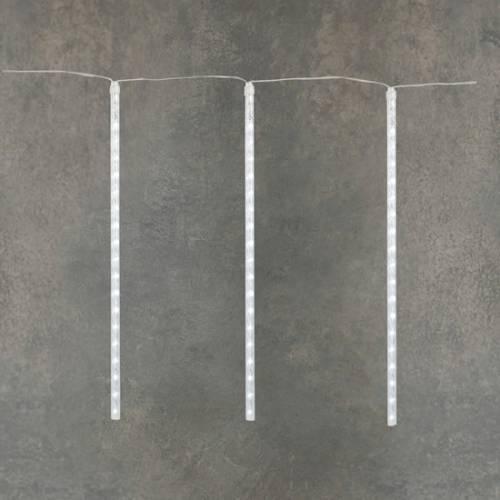 """Гірлянда """"Танучі бурульки"""", """"Luca"""", 12 м, бурульки по 0,5 м, білий"""