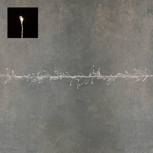 """Гірлянда-кластер, срібна струна, """"Luca"""", 14 м, теплий білий"""