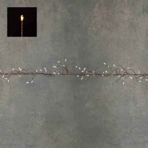 """Гірлянда-кластер, мідна струна, """"Luca"""", 14 м, теплий білий"""